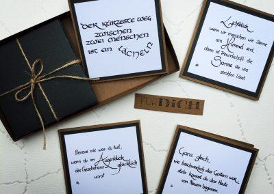 Kalligraphie Kärtchen